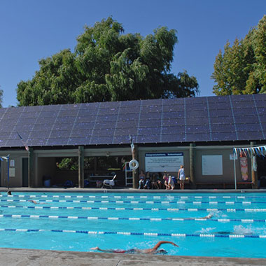 Sebastopol Ives Pool Solar Panels - Photo by Marty Roberts